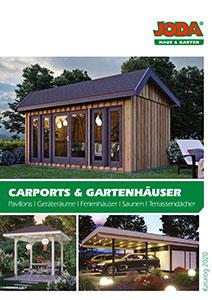 Joda Katalog Carports & Gartenhäuser
